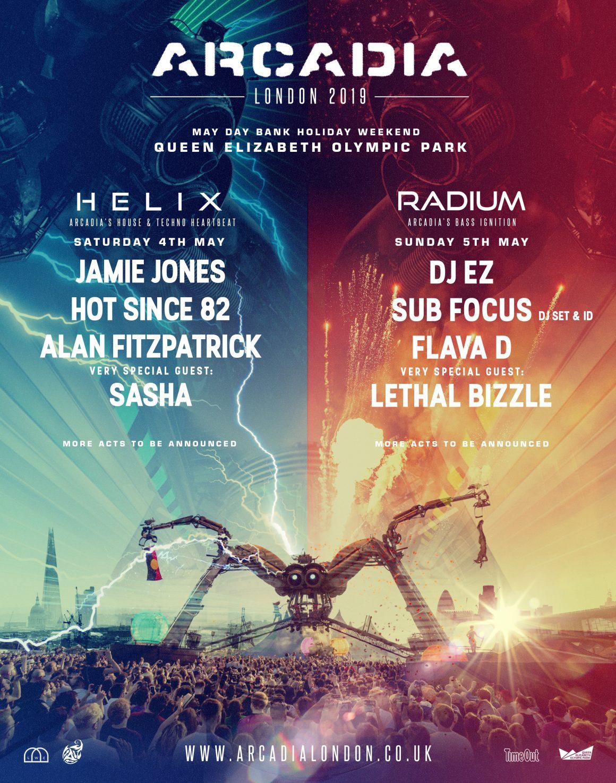 Arcadia London 2019 lineup