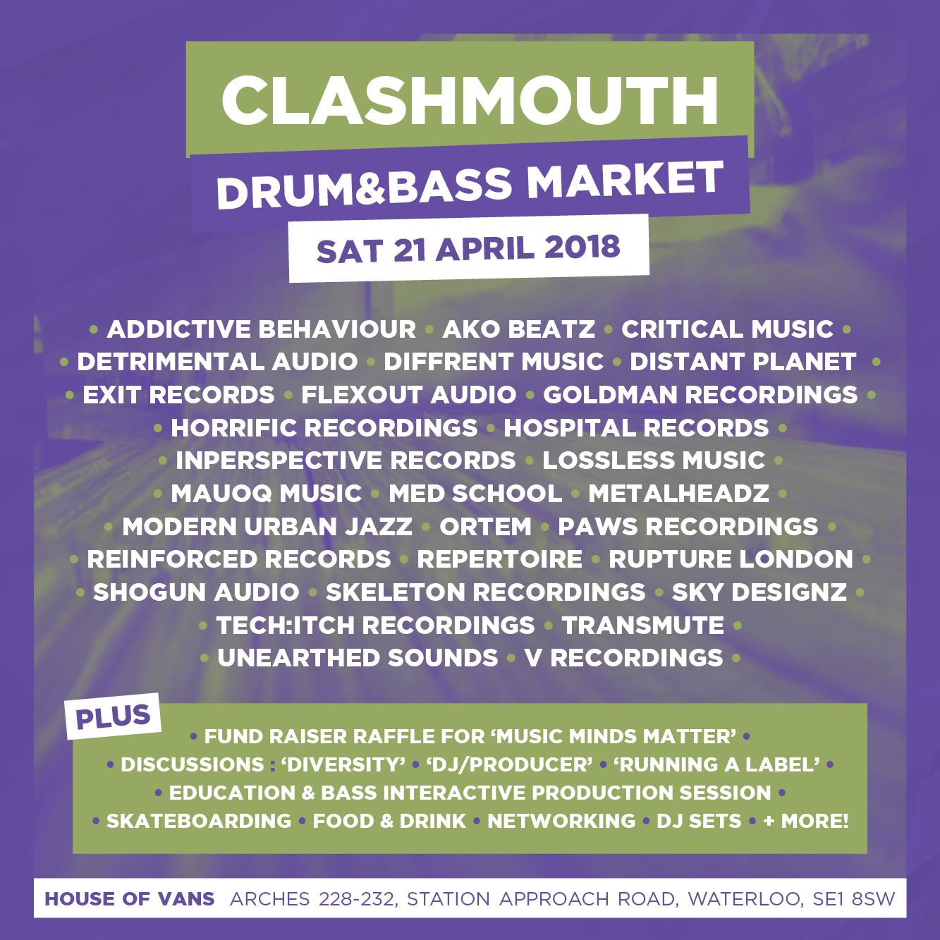 Clashmouth flyer/lineup
