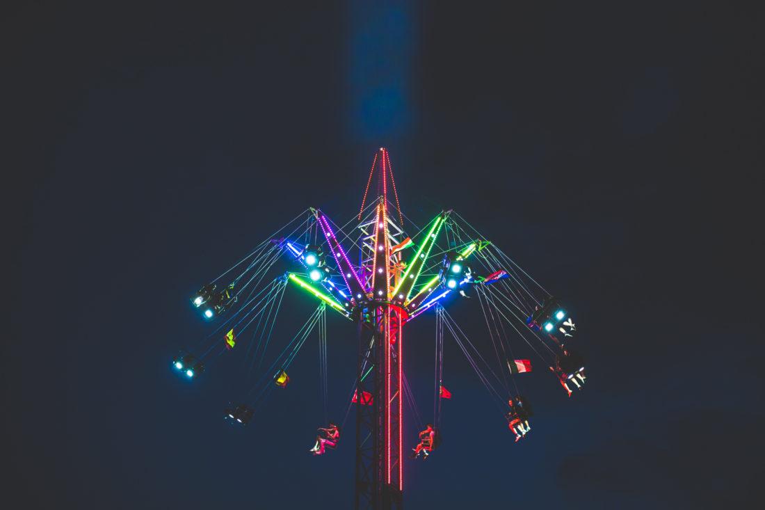 fairground ride at Farr Festival 2018